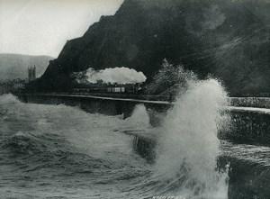 United Kingdom Teignmouth Seaside Wave Old Photo Print Frith 1900