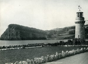 United Kingdom Teignmouth Lighthouse Old Photo Print Frith 1900