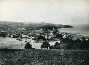 United Kingdom Teignmouth panorama Old Photo Print 1900