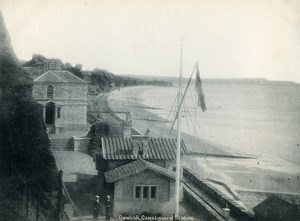 United Kingdom Dawlish Coastguard Station Old Photo Print 1900