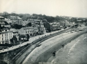 United Kingdom Dawlish Seaside Beach Old Photo Print Frith 1900