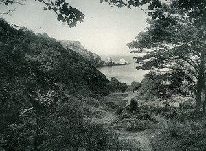 United Kingdom Torquay Anstey's Cove Seaside Old Photo Print Frith 1900