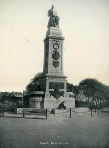 United Kingdom Plymouth Armada Memorial Old Photo Print 1900