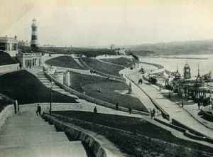 United Kingdom Plymouth Hoe Pier Smeaton's Tower Old Photo Print 1900