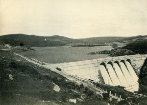 United Kingdom Plymouth Burrator Reservoir Dam Old Photo Print 1900