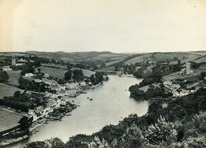 United Kingdom Devon Newton Ferrers & Noss Mayo Old Photo Print 1900