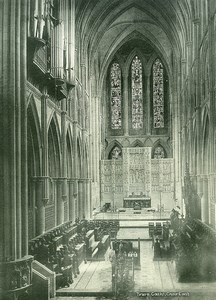 United Kingdom Cornwall Truro Cathedral Choir East Old Photo Print 1900