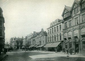 United Kingdom Cornwall Truro Boscawen Street Old Photo Print Frith 1900