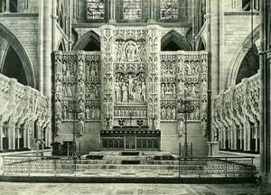 United Kingdom Cornwall Truro Cathedral Altar Reredos Old Photo Print 1900