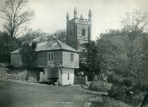 United Kingdom Cornwall Truro Kenwyn Parish Church Old Photo Print 1900