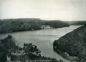 United Kingdom Cornwall River Fal King Harry Passage Old Photo Print Frith 1900