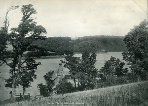 Cornwall St Michael Penkevil River Fal Tregothnan Old Photo Print Frith 1900