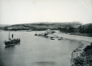 Cornwall Truro River Fal Sunny Corner Steamboat Old Photo Print Frith 1900