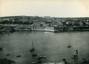 United Kingdom Cornwall Falmouth Panorama Old Photo Print Frith 1900