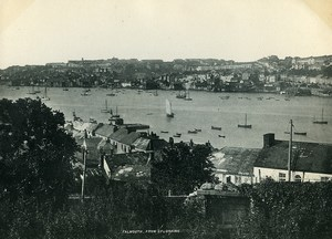 United Kingdom Cornwall Falmouth view from Flushing Old Photo Print 1900