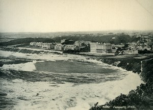United Kingdom Cornwall Falmouth Panorama Seaside Old Photo Print Frith 1900