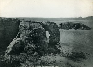 Cornwall Perranporth Arch & Chapel Rocks Old Photo Print Frith 1900