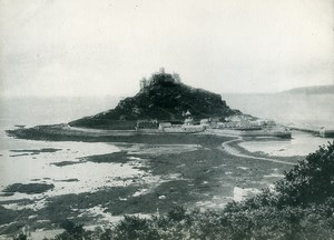 Cornwall St. Michael's Mount near Penzance Old Photo Print 1900