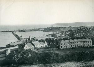 United Kingdom Cornwall Penzance Panorama Old Photo Print 1900