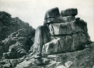 United Kingdom Cornwall Penzance Logan Rock Old Photo Print 1900