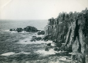 United Kingdom Cornwall Penzance Lands End Cliffs Old Photo Print Frith 1900