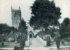 United Kingdom Cornwall Penzance Gulval Church Old Photo Print 1900