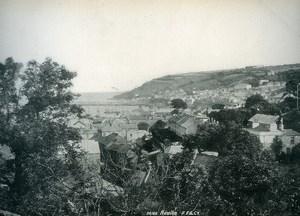 United Kingdom Cornwall Newlyn Panorama Old Photo Print Frith 1900