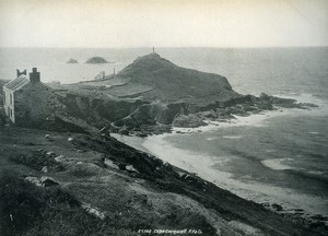 United Kingdom Penzance Cape Cornwall Old Photo Print Frith 1900