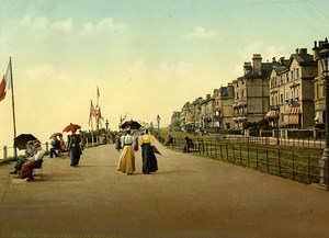 United Kingdom Kent Folkestone Lees Promenade Old Photo Photochrom 1900