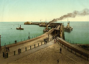 United Kingdom Kent Dover Admiralty Pier Old Photo Photochrom 1900