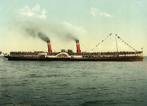 United Kingdom Dover Paddle Steamer KOH-I-NOOR Old Photo Photochrom 1900