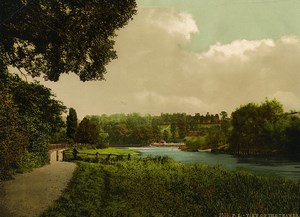 United Kingdom London Richmond? View on the Thames Old Photo Photochrom 1900