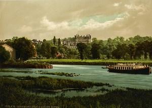 United Kingdom London Richmond Star & Garter Hotel Old Photo Photochrom 1900