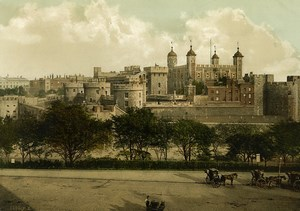 United Kingdom Tower of London Old Photo Photochrom 1900