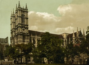 United Kingdom London Westminster Abbey Old Photo Photochrom 1900