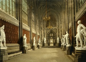 London Houses of Parliament St Stephen's Hall Old Photo Photochrom 1900