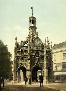 United Kingdom West Sussex Chichester Cross Old Photo Photochrom 1900