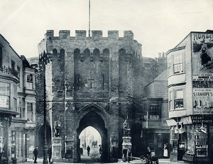 United Kingdom Southampton Bargate Medieval Gatehouse Old Photo print 1900