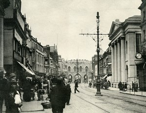 United Kingdom Southampton Bargate Shopping Street Old Photo print 1900