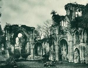 United Kingdom Netley Abbey Ruins Old Photo print 1900