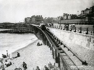 United Kingdom Brighton Beach Electric Railway Old Photo 1900