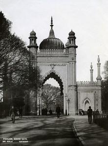 United Kingdom Brighton Royal Pavilion North Gate Old Photo 1900