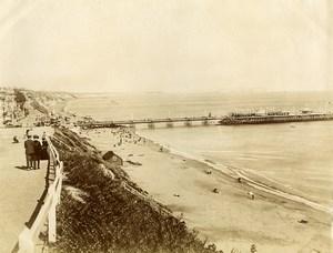 United Kingdom Bournemouth Beach & Pier Old Photo 1890