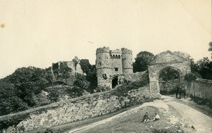 Isle of Wight Carisbrooke Castle Entrance Gate Old Photo print 1900