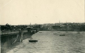 United Kingdom Isle of Wight Ryde Seafront Pier Old Photo print 1900