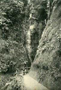 United Kingdom Isle of Wight Shanklin Chine Waterfall Old Photo print 1900