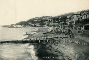United Kingdom Isle of Wight Ventnor Beach Huts Seafront Old Photo print 1900