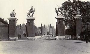 United Kingdom London Hampton Court Palace Old Photo 1900