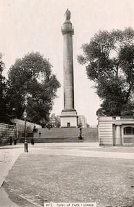 United Kingdom London Londres Duke of York Column Old Photo 1900