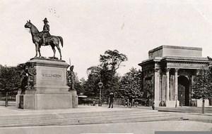 United Kingdom London Londres Welligton Monument Old Photo 1900